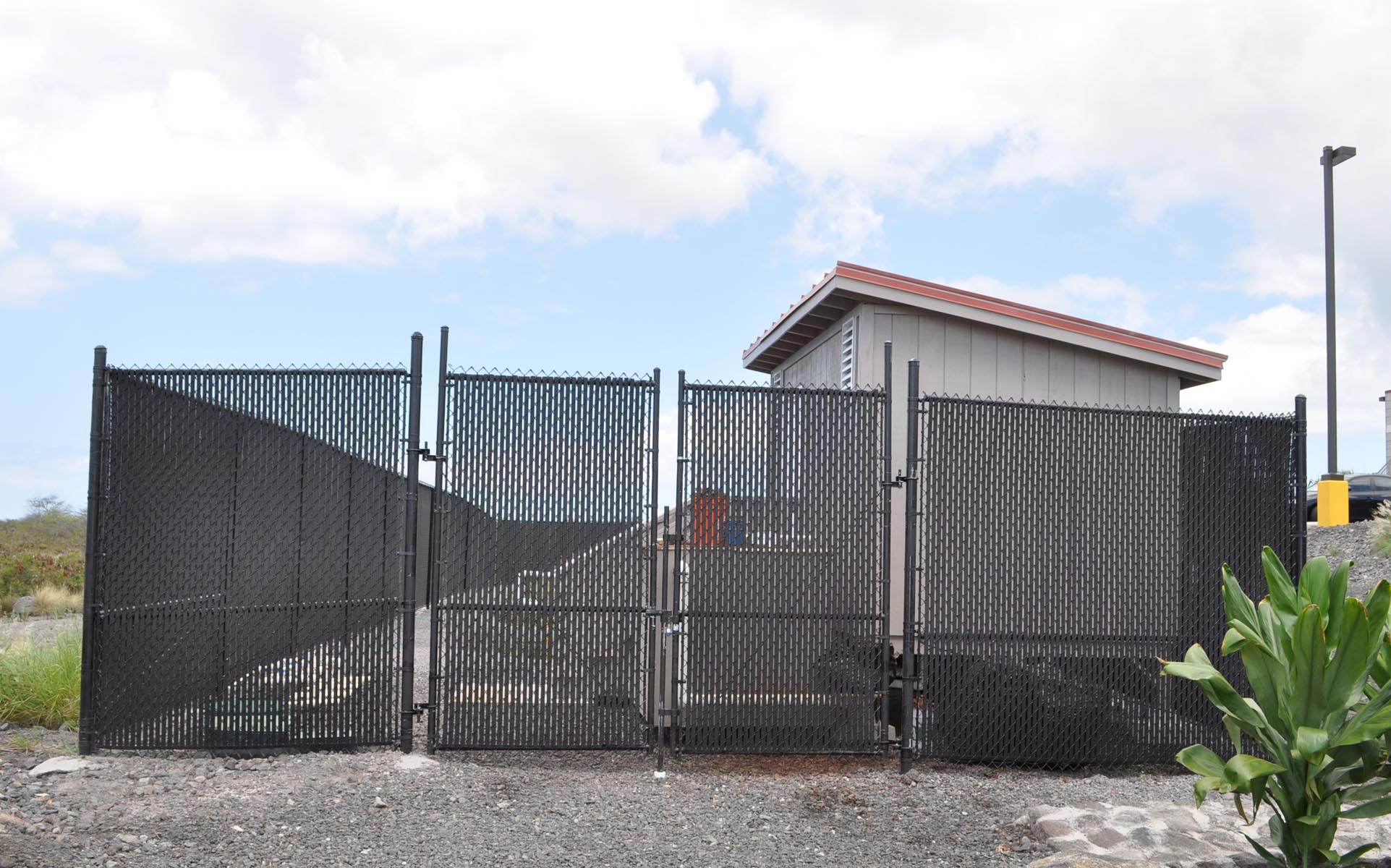 Chain Link Enclosure with Slats